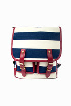 Ahoy There! Nautical Stripe Backpack