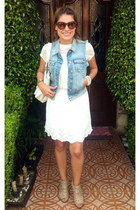 lace Zara dress - Bershka vest - Nine West wedges