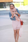 Sky-blue-abercrombie-fitch-jacket-light-pink-nasty-gal-skirt