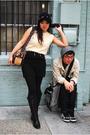 Beige-vintage-top-black-forever-21-skirt-black-shrake-hat-brown-vintage-pu