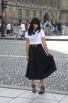 vintage tie - vintage belt - vintage skirt - calvin klein shoes