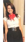 Neutral-heels-white-h-m-shirt-red-lashez-scarf-black-h-m-skirt