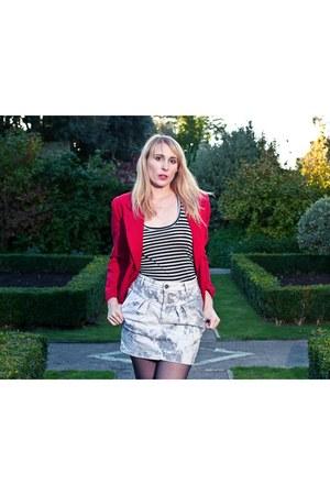 vintage blazer - Topshop skirt - Zara vest