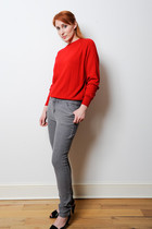 red Vintage La Luminata sweater - gray Urban Outfitters jeans - black Terra Plan