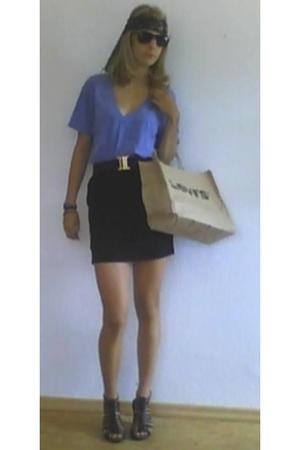American Apparel t-shirt - H&M skirt - Leib und Seele belt