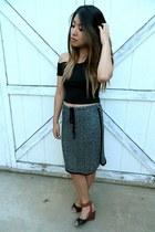 midi Bobeau skirt - crop no name top - Report wedges