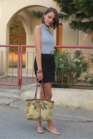 heather gray DressLink top - neutral Isabella Fiore bag - black Pimkie skirt