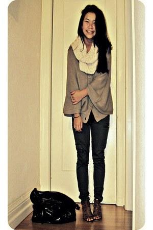 brown Rampage heels - dark green cargo Charlotte Russe pants