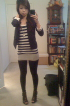 H&M blazer - H&M top - hollister top - closet leggings - Forever 21 shoes