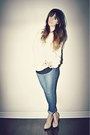 Blue-polka-dot-ardene-jeans