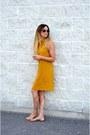Mustard-sheinside-dress