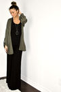 Green-topshop-cardigan-black-target-dress-silver-david-bitton-buffalo-neckl