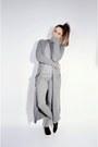 Heather-gray-maxi-oasap-cardigan