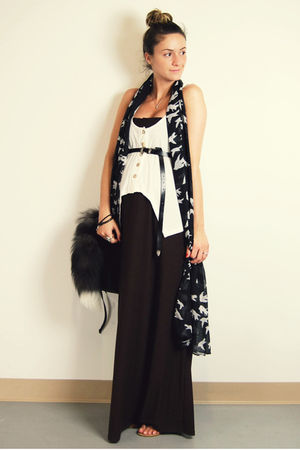 brown Target dress - white urban behavior top - black Ardene belt - black Ardene