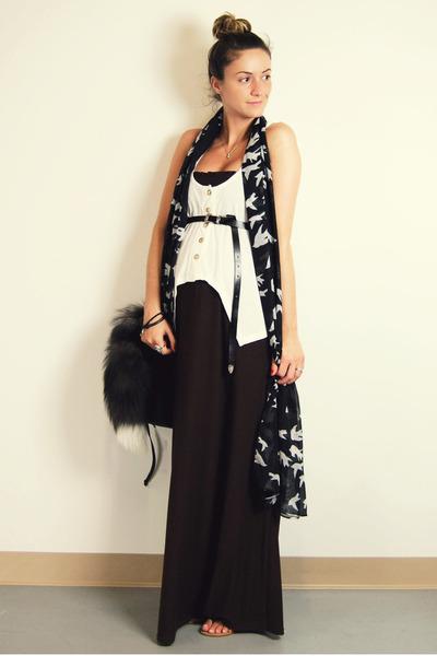 brown Target dress - white urban behavior top - black Ardene belt - black Ardene