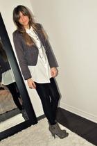 red Forever 21 blazer - white Target shirt - black Zara leggings - gray Sirens b
