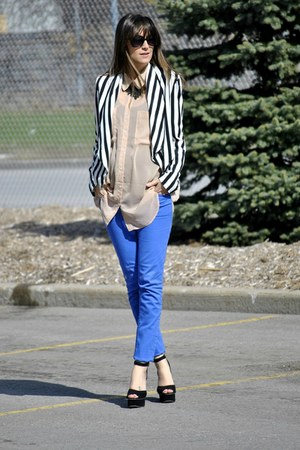 blue Buffalo David Bitton jeans - neutral sheer oversize American Apparel blouse