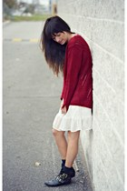 brick red knitted Oasapcom sweater