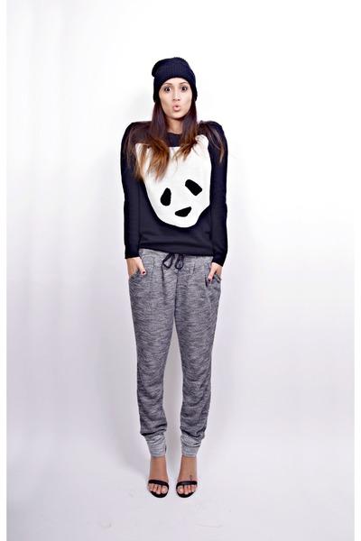 charcoal gray sweatpants H&M pants