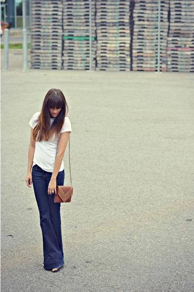 navy wide leg J Brand jeans