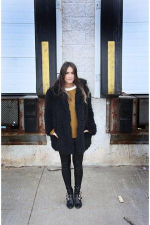 black Primark coat