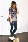 Blue-thrifted-blazer-gray-zara-t-shirt-gray-ardene-top-blue-zara-jeans-w