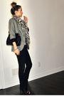 Gray-zara-blazer-black-ardene-jeans-black-aldo-boots-white-ardene-scarf-