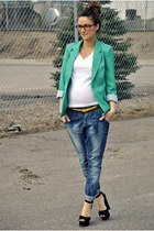teal green Urban Planet blazer