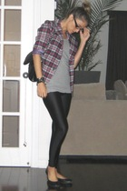 vintage from Ebay blazer - H&M t-shirt - American Apparel leggings - Aldo - Aldo