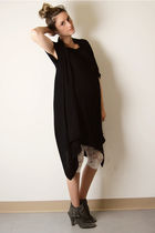 black Sirens vest - black random dress - white H&M leggings - gray Aldo boots
