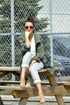olive green military H&M jacket