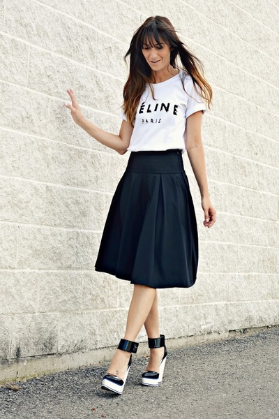 Black Club Monaco Full Midi Skirt | Chictopia