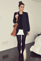 blue Forever 21 blazer - white H&M shorts - black Aldo shoes - brown Ardene purs