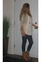 jean Ardene leggings - cowboy Aldo Shoes boots - cardigan Zara top