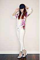 white cichiccom blouse
