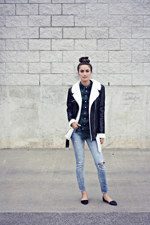 black Missguided jacket