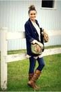 Tawny-aldo-boots-blue-skinny-joes-jeans-jeans-navy-forever-21-blazer