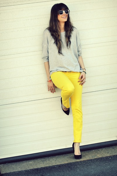 yellow yellow skinny Urban Planet jeans