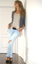 Urban Planet jeans - black Aldo shoes - gray 34 sleeve Dynamite blazer