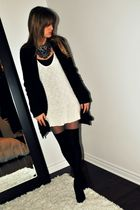 black Urban Behaviour cardigan - white Ardene top - black Ardene socks - gray vi