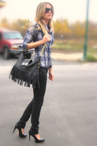 black Ardene jeans - black Aldo purse - black oversize H&M sunglasses