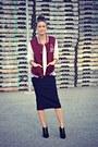 Black-suede-zipper-aldo-boots-crimson-varsity-ardene-jacket