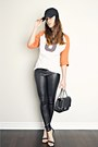 Black-shiny-american-apparel-leggings-black-lulus-heels