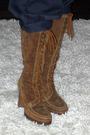 H-m-top-h-m-pants-beige-michael-kors-boots-david-bitton-buffalo-scarf