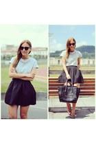 PERSUNMALL heels - Chicwish skirt