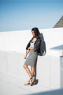 Black-unif-jacket-charcoal-gray-pencil-midi-h-m-skirt