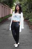 lace crop top Tobi top - Topshop top - American Apparel shoes