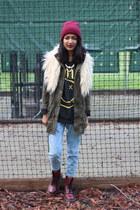 Aritzia jacket - patent leather Dr Martens boots - Tobi jeans