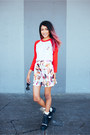 Red-style-moi-skirt-red-petals-and-peacocks-top
