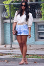 Suede-strappy-calvin-klein-shoes-vintage-shorts-vintage-blouse